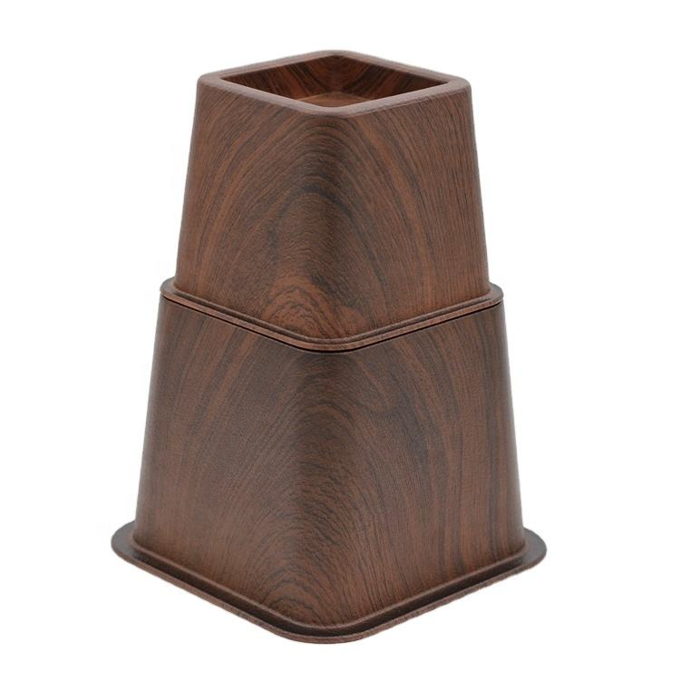 3 Inch And 5 Inch Surface Wood Grain Plastic Furniture Legs And Parts Bed Risers Lowes