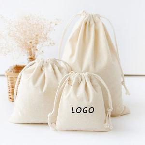 Custom Extra Large Reusable Travel Grocery White Blank Canvas Drawstring Bag