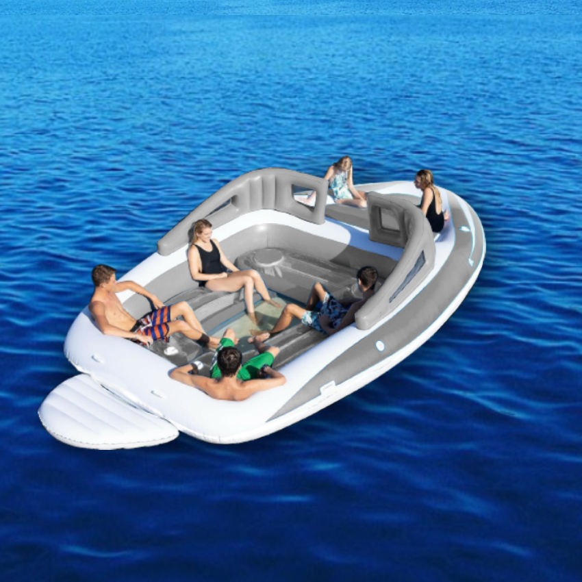 Inflatable Bay Breeze Boat Party Island, inflatable boat island