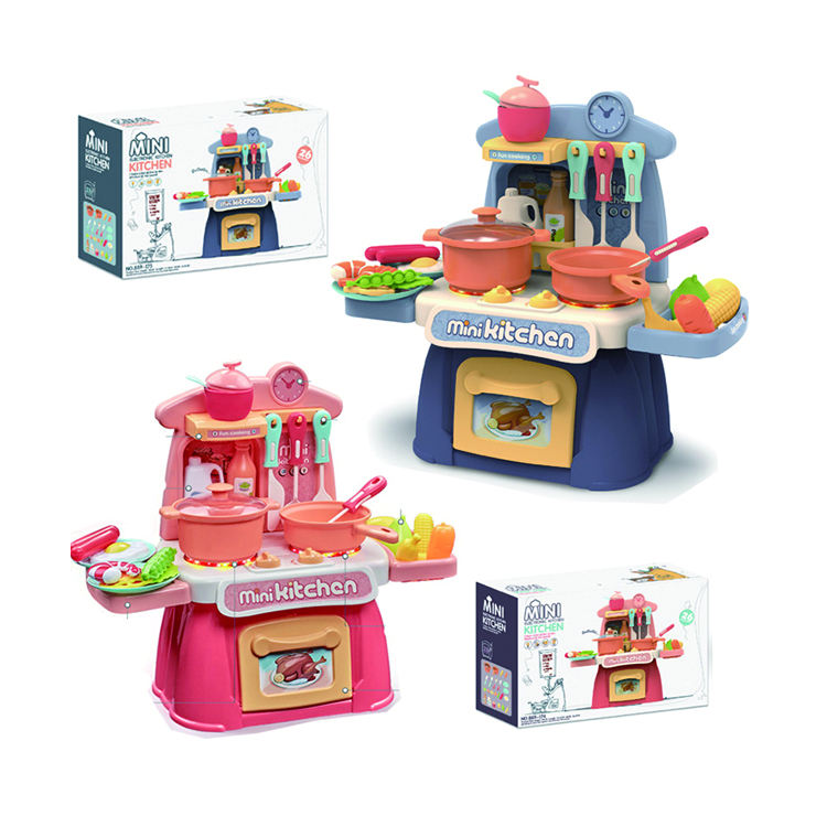 ON SALE!!! Party Kitchen Play Set Mini Kitchen Kids Cooking Set Pretend Role Play Toys For Children