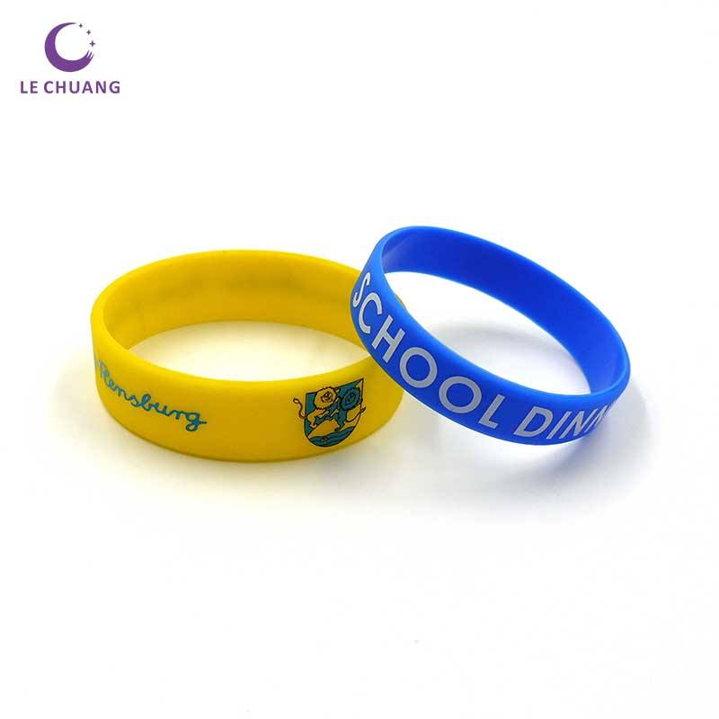 Personalized customization Imprinted Logo Silicone Wristband for Activities