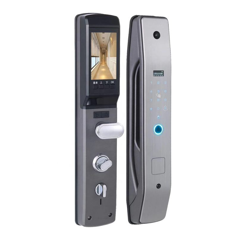 Zhuofeng App Remote Control High Security Face Recognition Smart Door Lock, Smart Fingerprint door lock, Smart Door Lock Camera