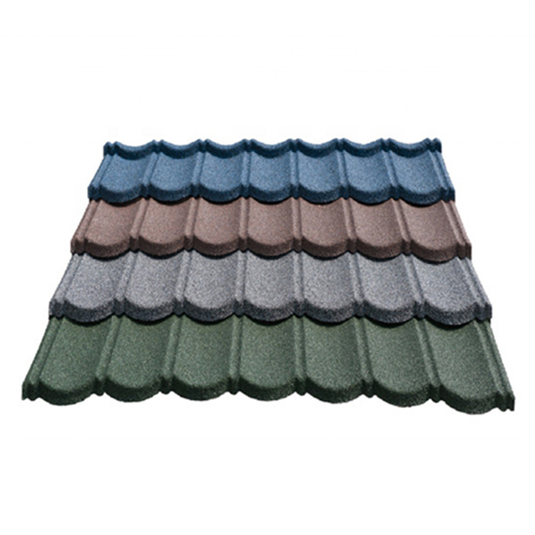 Bond colorful stone coated roof tiles bond type telhados sun terracotta Metal black and gray color Metal roof tile In Nigeria