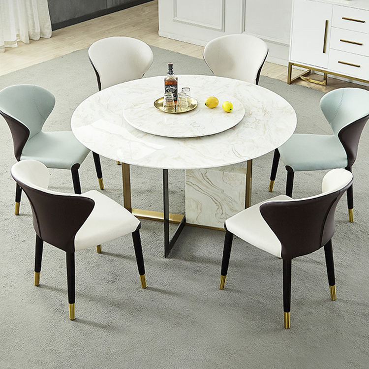 Modern Light Luxury Marble Bases Kitchen Table Dining Table Set Dining Room Home Furniture