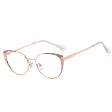 SHINELOT New Stylish Optical Frame High Quality Female Speticals Fashion  Metal Glasses for Women Eyewear Manufacturer