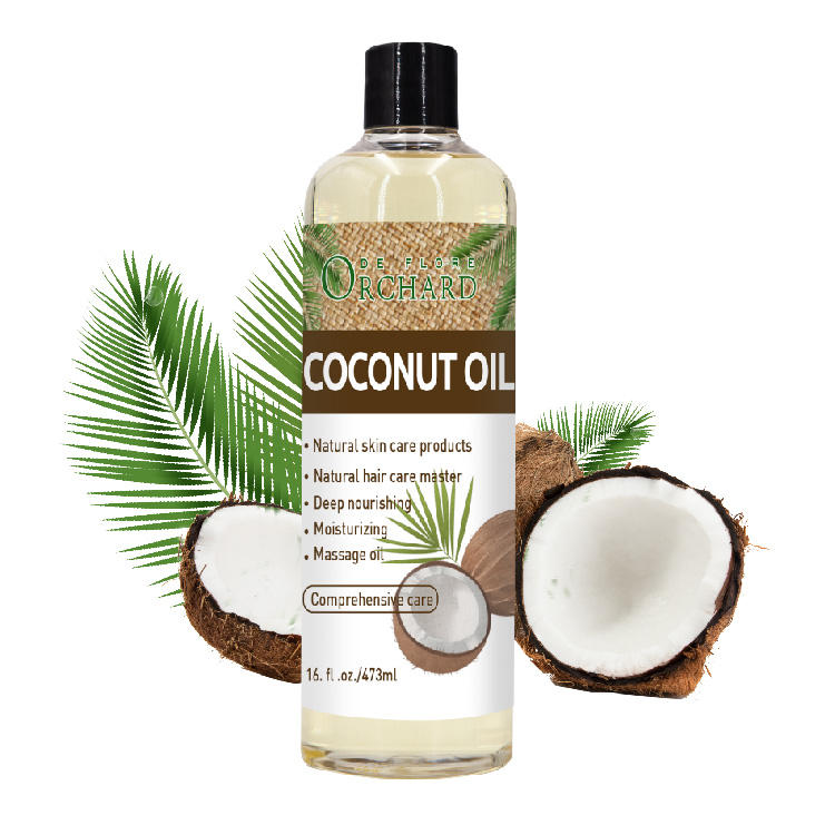 Cold Pressed Organic Fractionated And Virgin Hair Care Coconut Oil
