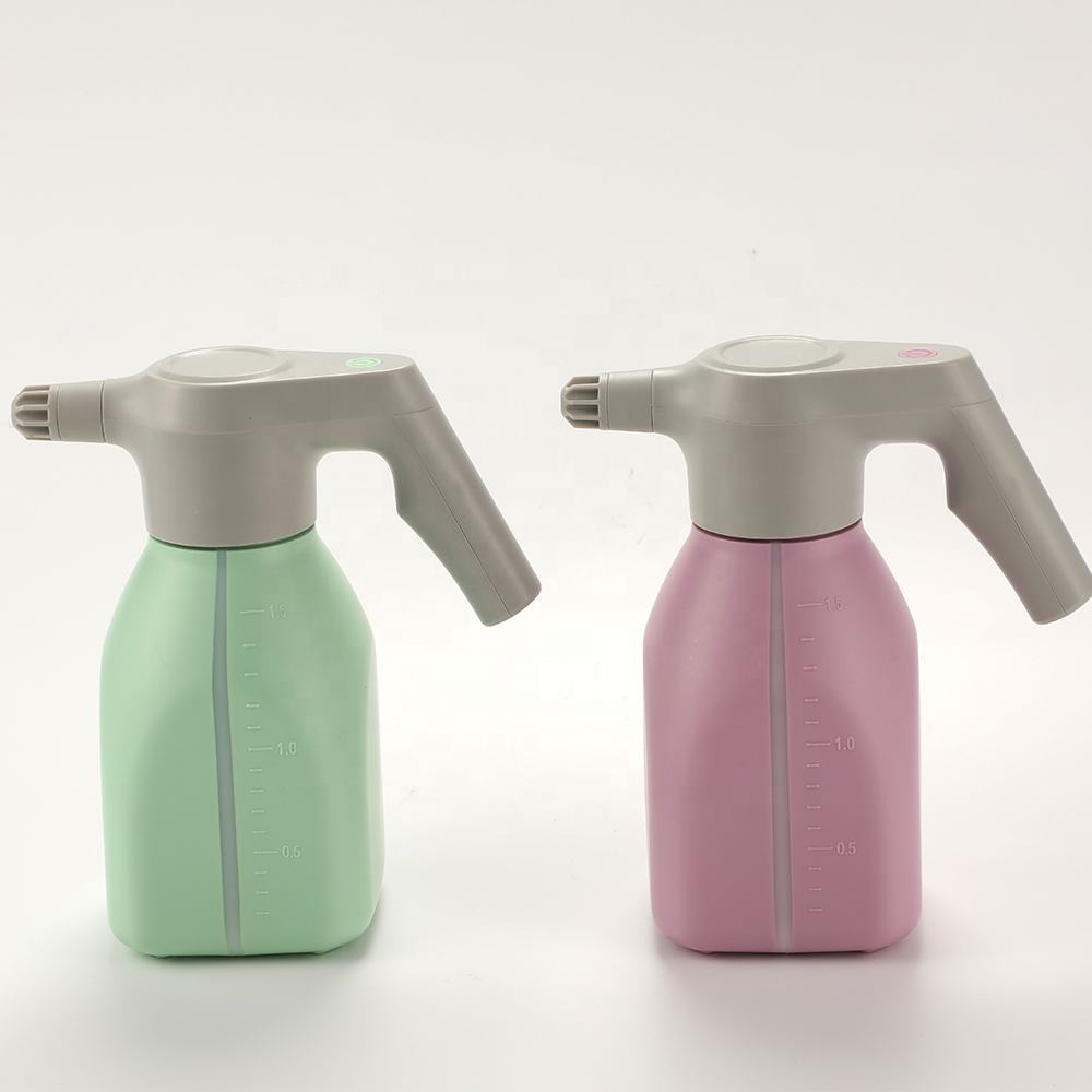 New Design Amazon's Favorite Garden High Pressure Home Use Water Spray 1.5L Green Pink Electric Sprayer