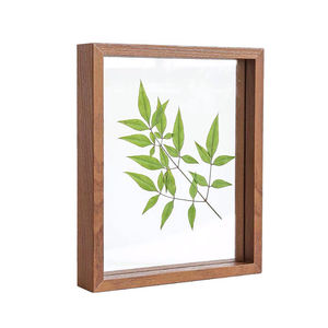 Natural Wood Color with Double High Quality Glass Modern 4x6 5x7 8x10inch Plant Floating Picture Frames For Tabletop Decor