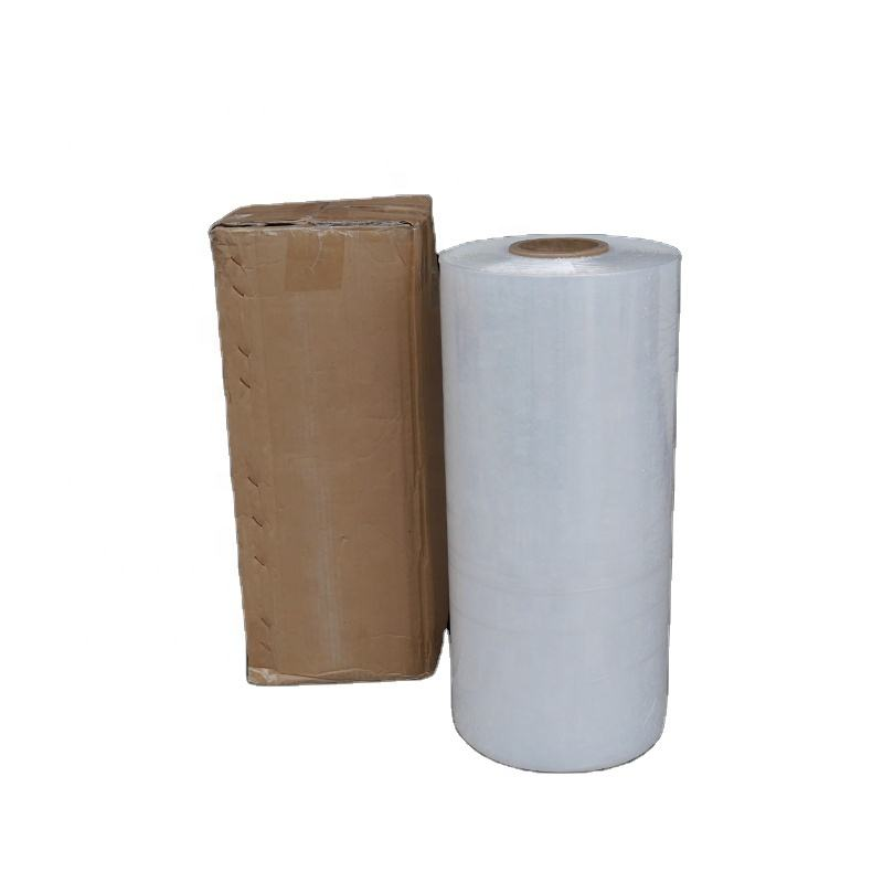 20inch high transparent 100% LLDPE material machine stretch film for wrapping pallet