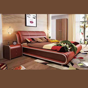 European Fashionable Soft Hot Selling Modern Leather Bed