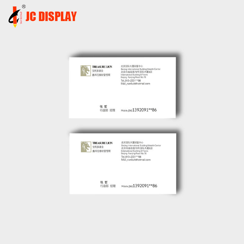 Transparent Supplying And Exporting Printing Color Business Card