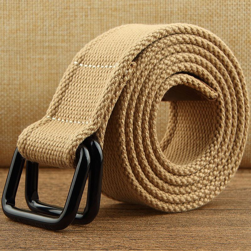 Factory direct sale hot selling tactical fashion cotton braided belt for man luxury