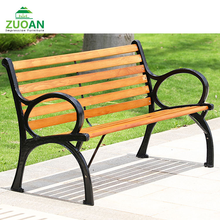 Commerical 1pc Long Bench Waterproof Outdoor Furniture Garden Wpc Outdoor Bench Seat With Aluminium Legs