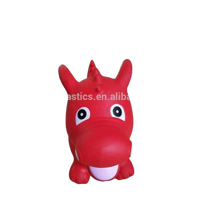Inflatable jumping riding horse toy