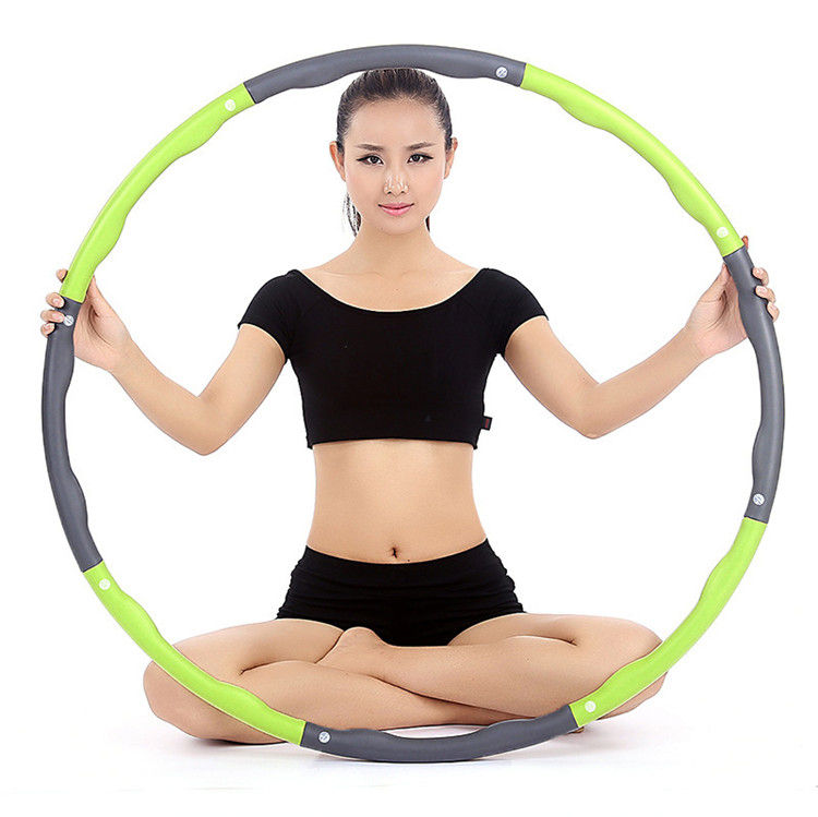 Wholesale Cheap Adjustable Spring Weighted Magnetic Massage Foam Fitness Hu La Hula Hoola Sports Fitness Ring Hoop with Weight