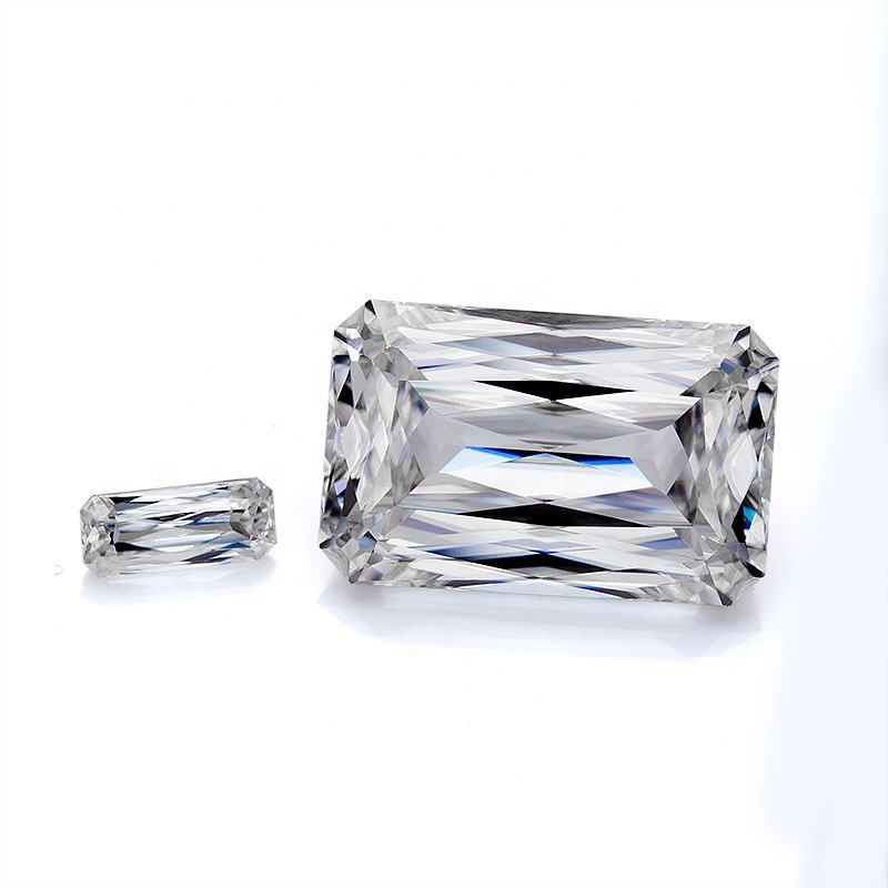 super white 11*9mm 5ct rectangle cut moissanite loose synthetic moissanite diamond price per carat for jewelry making