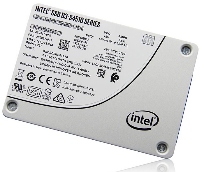 Enterprise เดิม Intel SSD s4510 960 GB 2.5 Solid State Disk