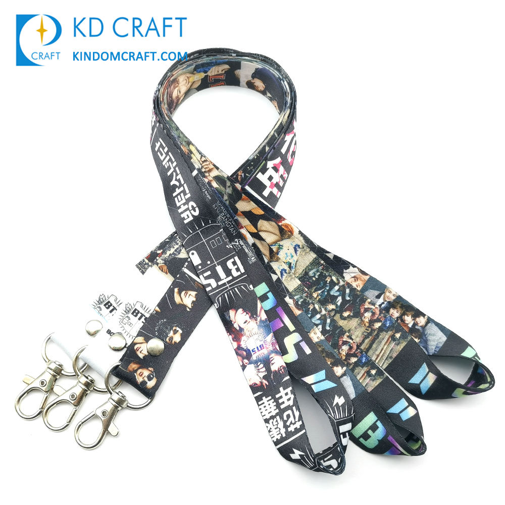 Wholesale no minimum custom design k-pop idol group persona bts flower boy id neck strap Korean kpop army bangtan bts lanyard