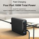 Wall Charger Charge Mobile Charger Shenzhen Multiple USB Wall Charger 100W QC 3.0 PD Charge 4 Ports Mobile Phone Desktop Charger