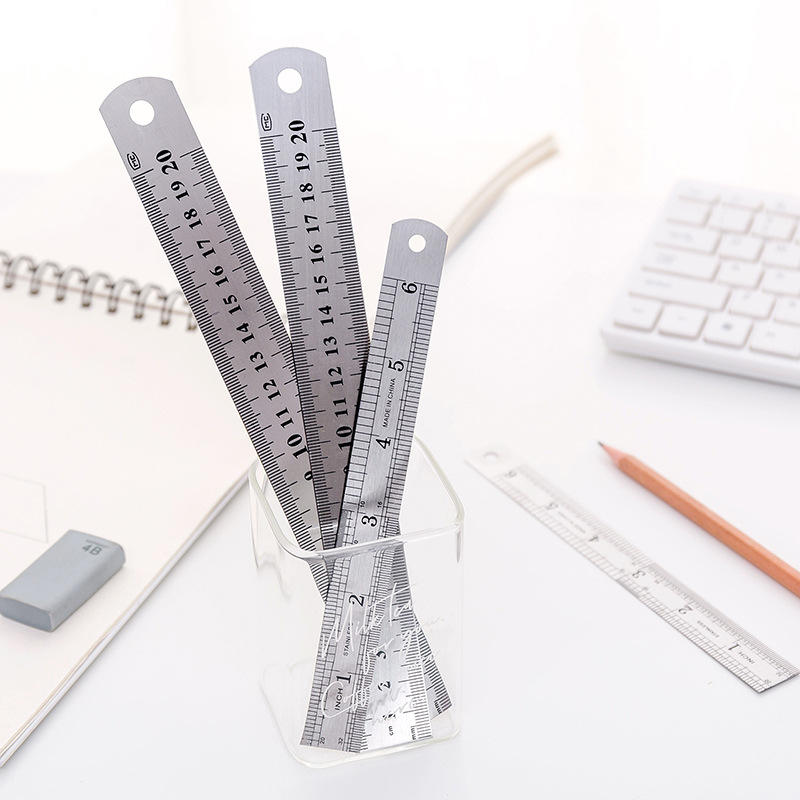High quality 12 Inch 30cm aluminum stainless steel ruler for office or school