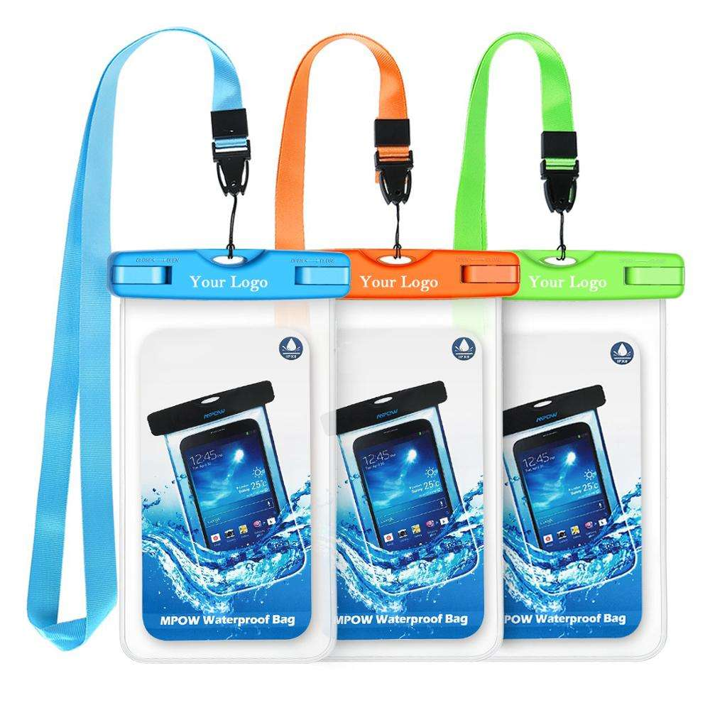 2020 Outdoor Universal Waterproof Phone pouch Pvc waterproof cell phone case dry bag for mobile with lanyard