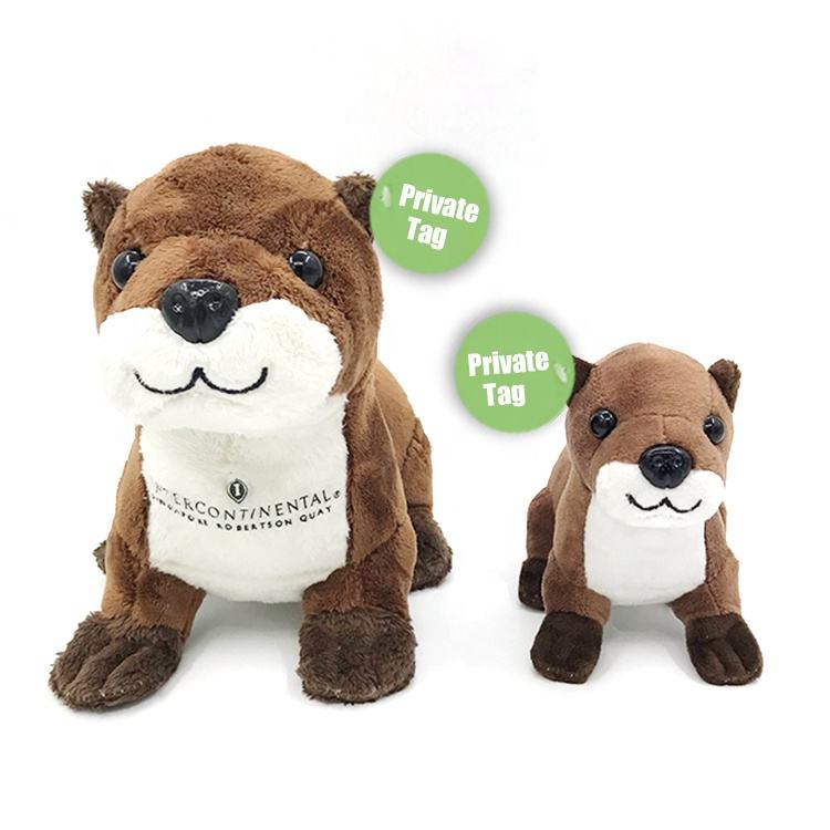 Custom 25cm EARTH collection mascot brown kids wild animals otter beaver MEERKAT SOFT stuffed PLUSH TOY