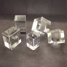 Pujiang 3D Laser Engraved Crystal Glass Cube Wholesale manufactory directly