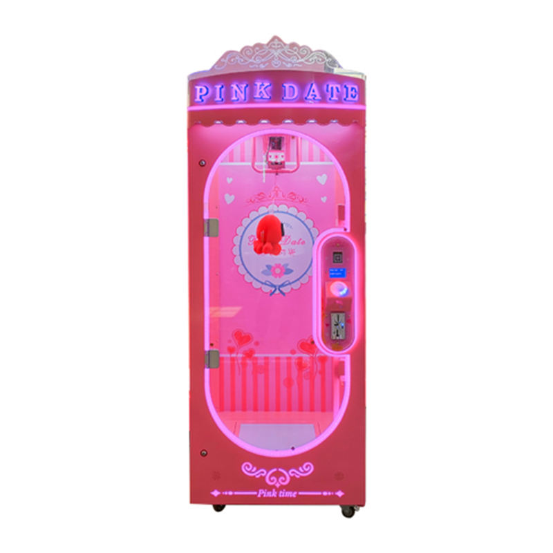 Amusement Park Coin operated Pink Date Arcade Prize Cutting Gift Game Machine For Sale