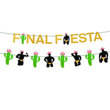 Mexican fiesta bachelorette party decorations glitter final fiesta and man banner garland  naughty dirty hen party supplies