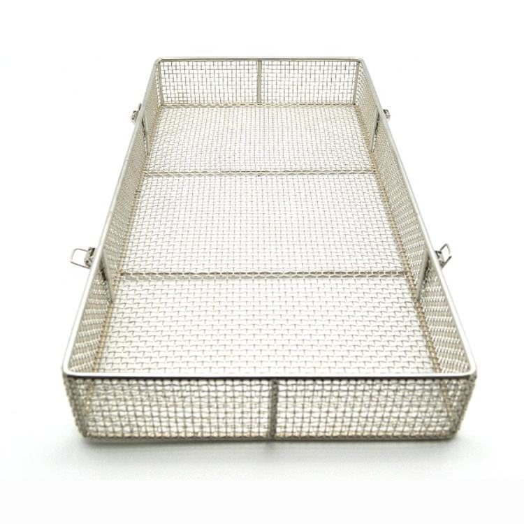 Stainless steel wire mesh basket medical disinfect basket mesh