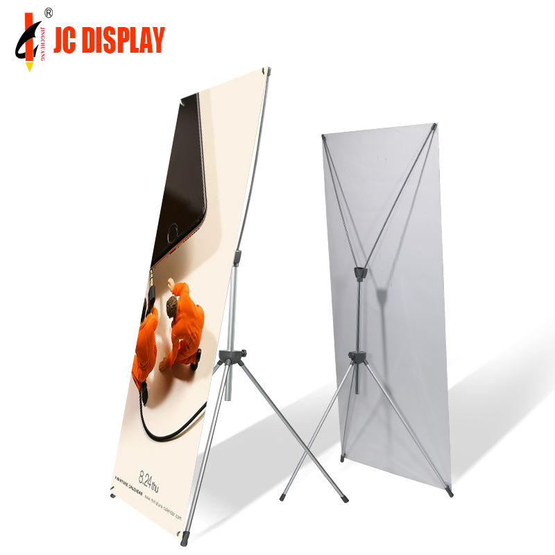 Factory trade show advertising height adjustable X banner stand