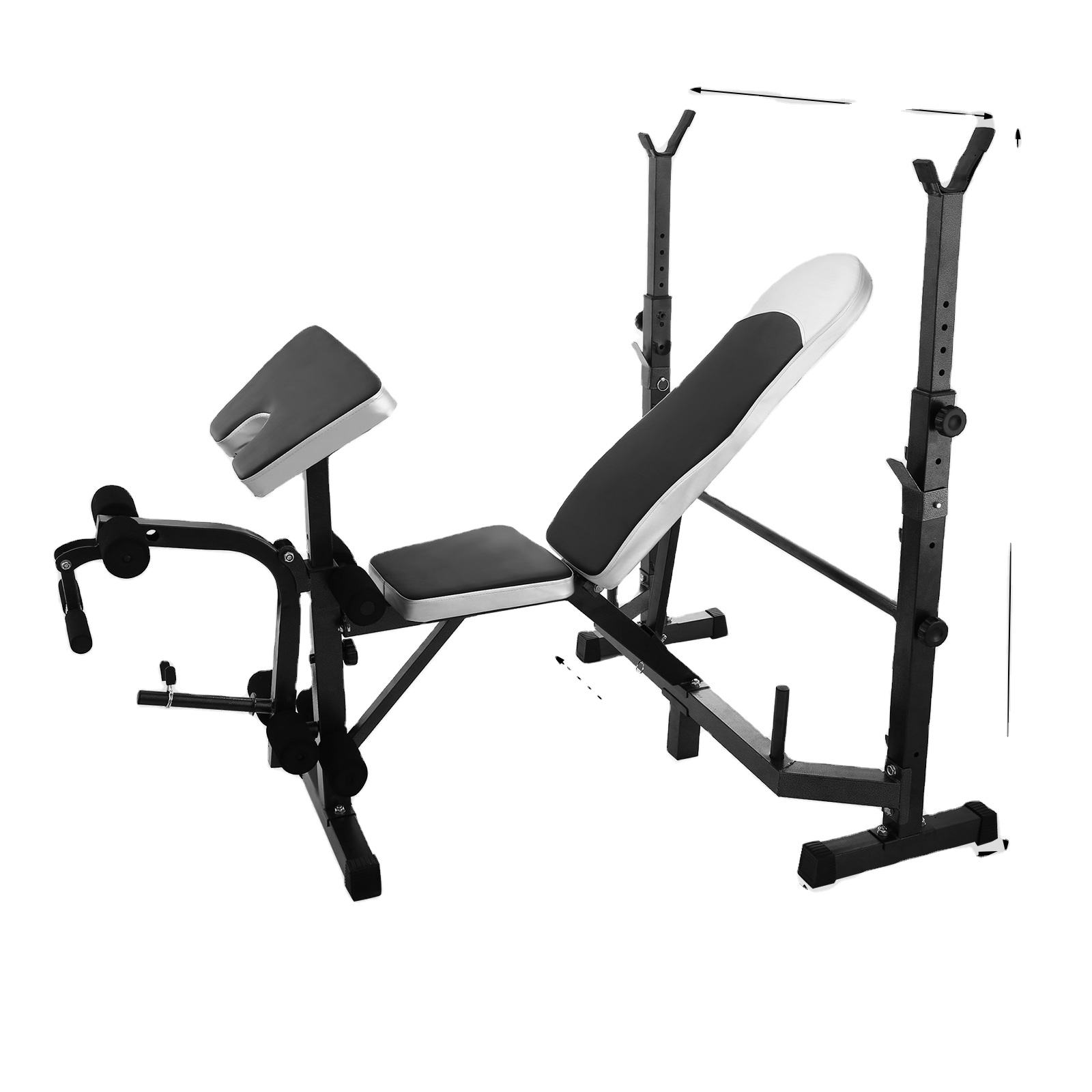 Commercial free weight lifting super bench