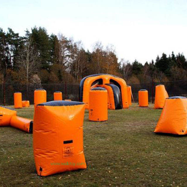 PVC Inflatable Paintball Bunker Inflatable Paintball Arenaสำหรับเกมกลางแจ้ง
