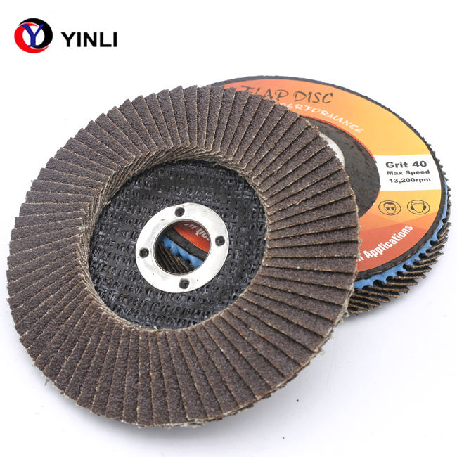 125 flap disc G80 calcined oxide material with T29 fiberglass backing pad