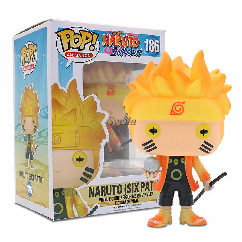 Factory Price Naruto Funko POP Figures Naruto(SIX PATH)#186 PVC Vinyl Action Figure Naruto Animation Funko POP Toys