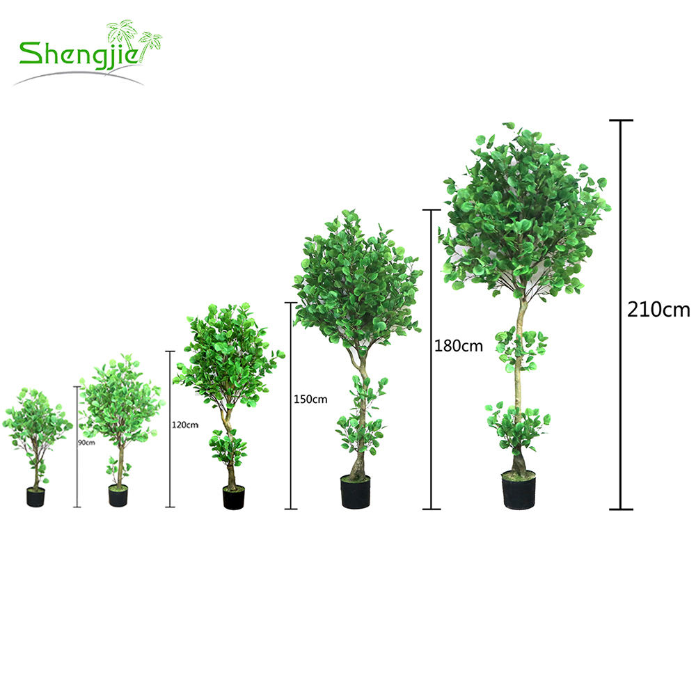 New Model Plastic Small Green Artificial Bonsai Tree Plants For Garden Decor
