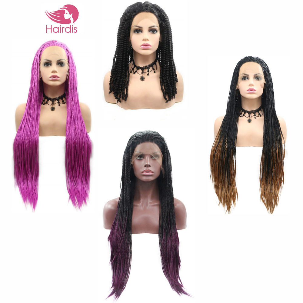 China Providers Twist Braid Wig Hot 20 24 30 32 Inch Long Ponytail Black Detangle Hair Styling Bulk Gray Black Braided Wigs