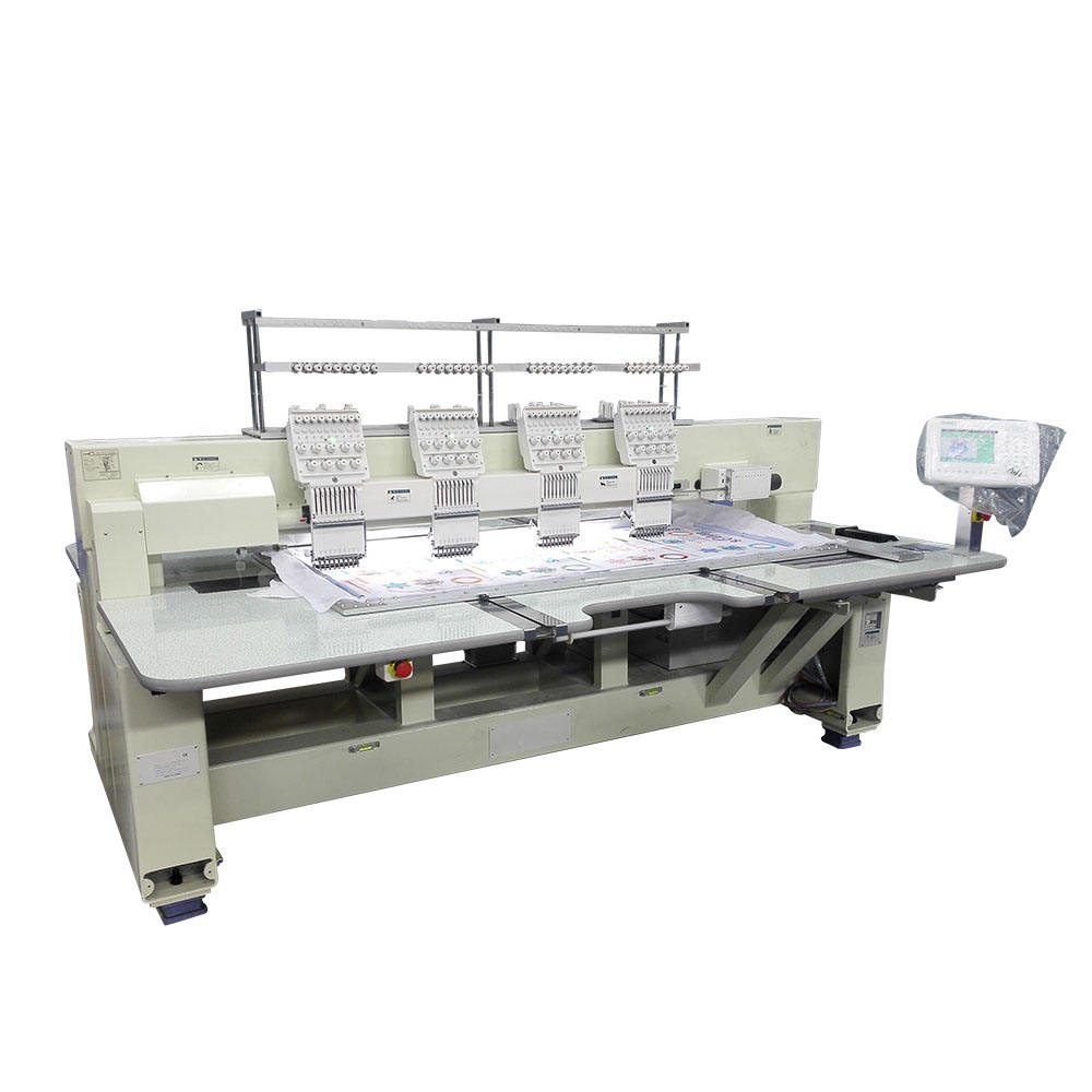 Metal operational security 4 heads flat embroidery machine with great price