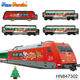 Electronic musical slot toys Christmas plastic high speed train toy with light HN847302