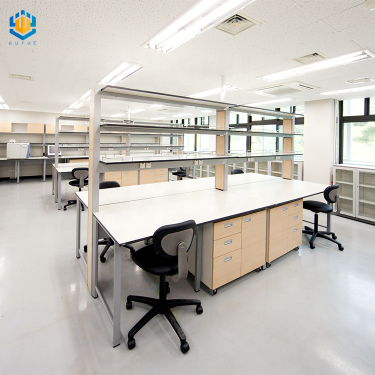 Science laboratory furniture chemistry lab island table work bench