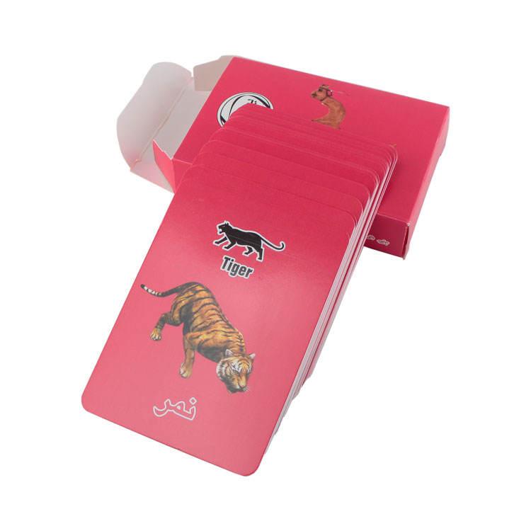 Сделано в Китае класса люкс CMYK цвет карты сделаны принтом «животные» для слова флеш игра-головоломка карты