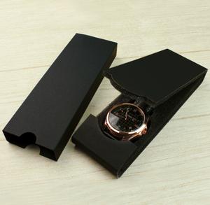 Best Selling YAZOLE D MY-01 High Quality Folded Luxury Watch Box Folded Black Gift Watch Packaging Box OEM Logo wholesale