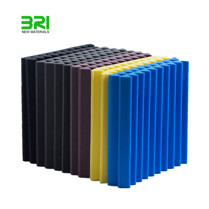 High density wedge acoustic wall panels PU acoustic foam