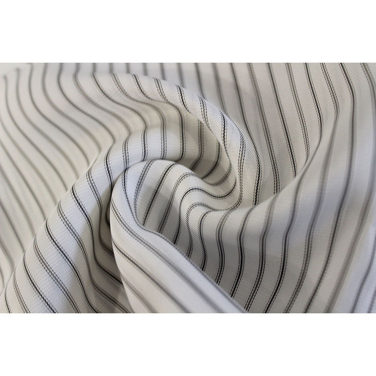 Competitive price stripes design double faced polyester sleeves&knee silk