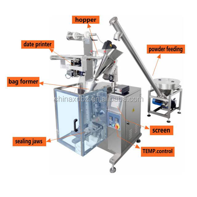 Fully Automatic Filling Pouch Small Sachet Chilli Spice Powder Packing Machine