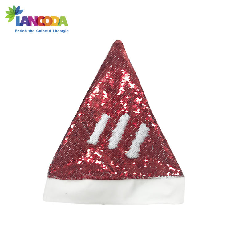 Dye Sublimatie Lege Sequin Omkeerbaar Magic Christmas Santa Hoed