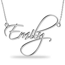 Fashion Gold Silver S925 Sterling Silver Diy Custom Personalised Name Necklace