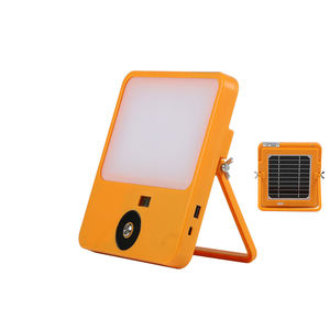 SUN ART outdoor IP65 camping lamp SMD chip high lumen motion sensor portable rechargeable LED solar flood light 30w 50w