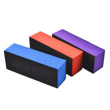 High quality Customized private label Square 3 Side Nail Buffer Block