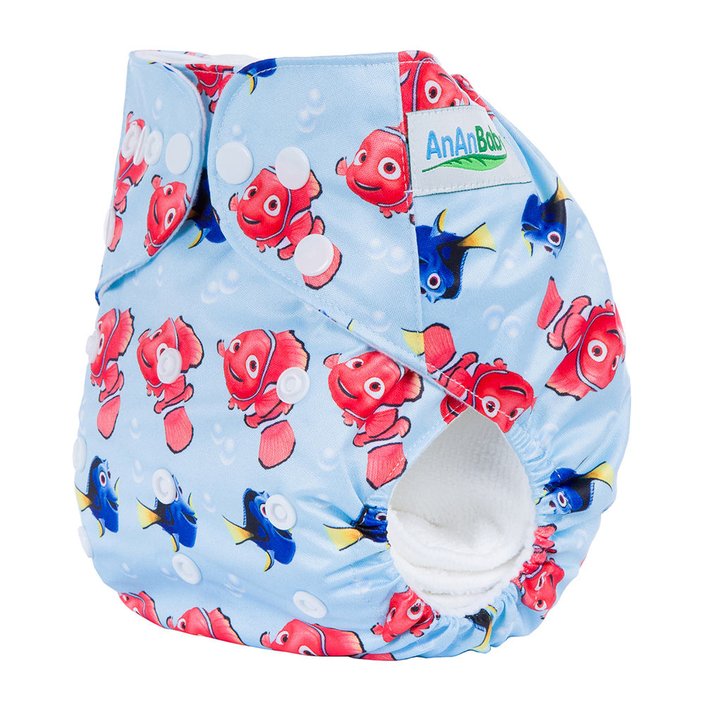2020 Ananbaby Wholesale Fashion Design Printed Pul Factory Made Baby Cloth Diaper with microfiber insert